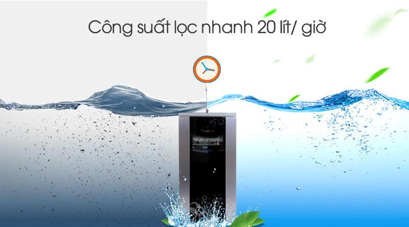 Máy lọc nước Kangaroo KG100HAVTU công suất lọc 20 lít/giờ
