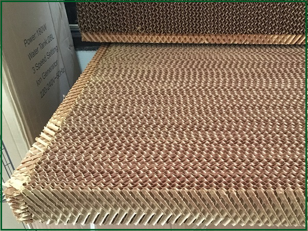 Tấm làm mát quạt hơi nước bằng gỗ